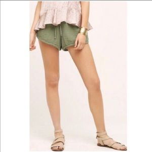 Anthropologie NWT Cloth & Stone Drawstring Shorts